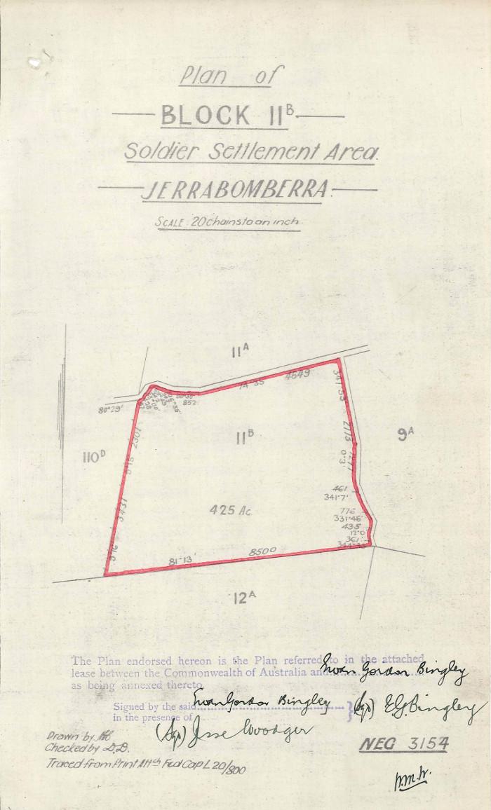Plan of Woden Block 11B