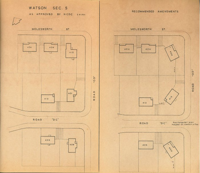 Housing Review 1961 - 400 Series Designs - Watson Section 5 Siting Plan