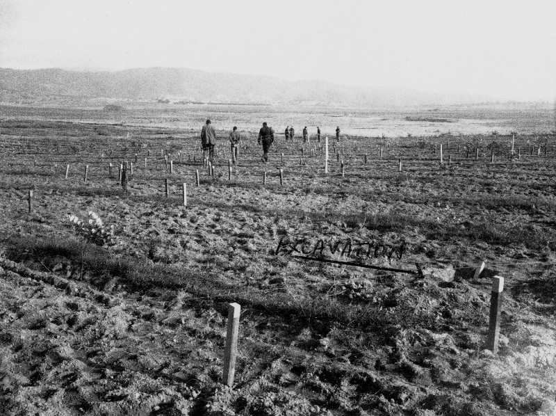 Inspecting the clearing of the Tuggeranong Bomb Range on the 19th of June 1973
