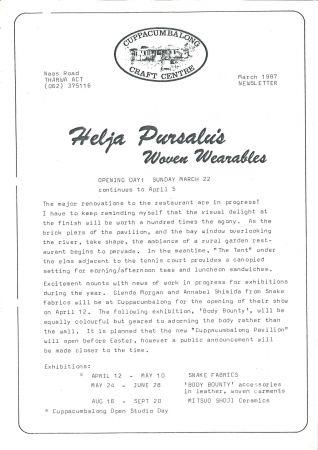 Flier for Pursalus Woven Wearables