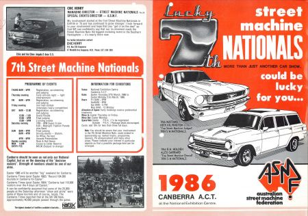 Summernats official brochure from 1987
