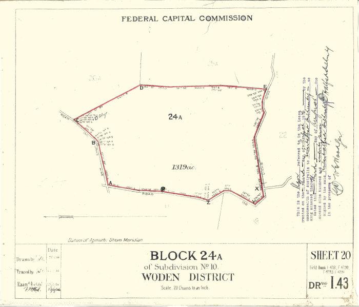 Plan of Woden 24A
