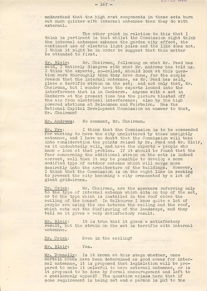 NCDC Minutes 20/02/1961 - page 167