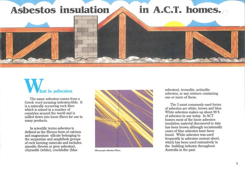 Asbestos Insulation in ACT Homes Page 3