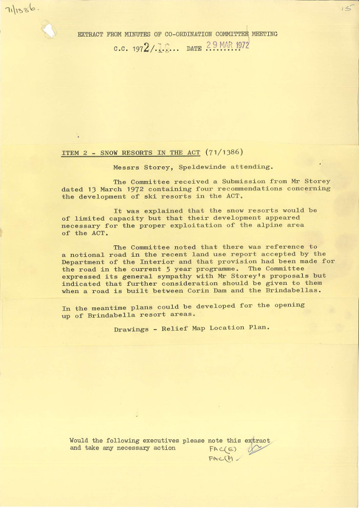 Extract from Minutes of NCDC Co-Ordination Committee Meeting on 29/03/1972