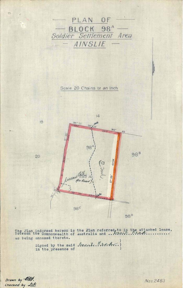 Plan of Gungahlin Block 98A
