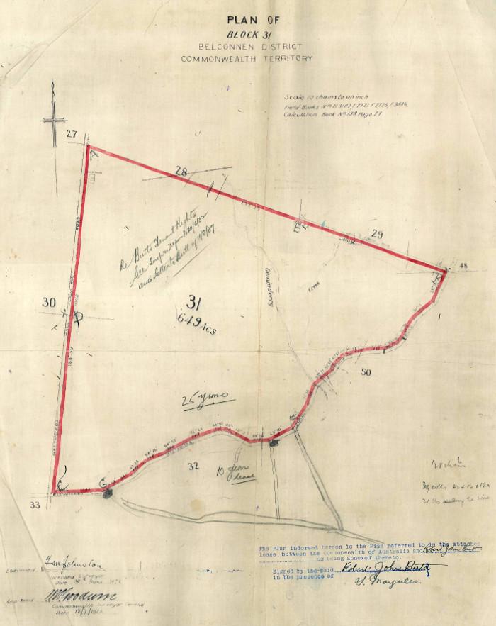 Map of Belconnen Block 31