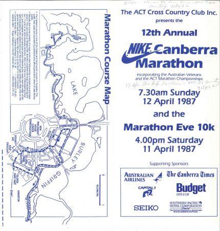 Nike Canberra Marathon, entry form