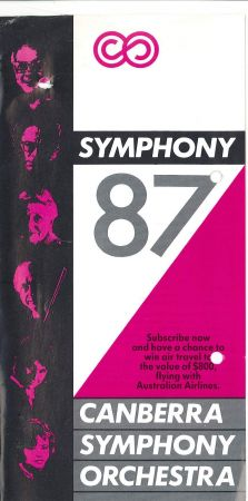 brochure for the 1987 season of the Canberra Symphony Orchestra