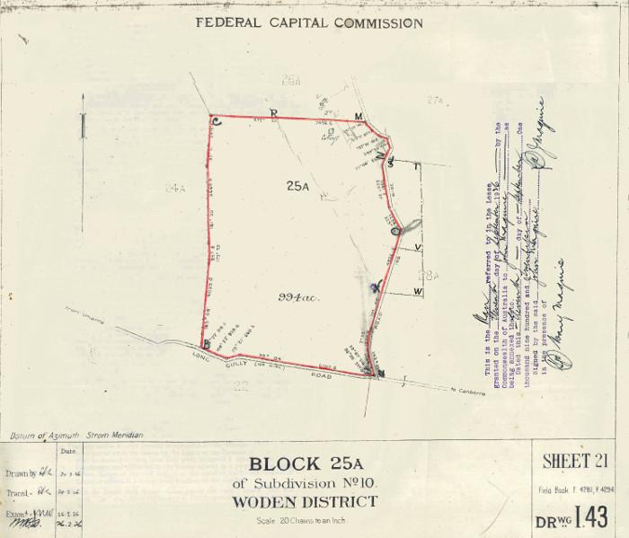 Plan of Woden Block 25A