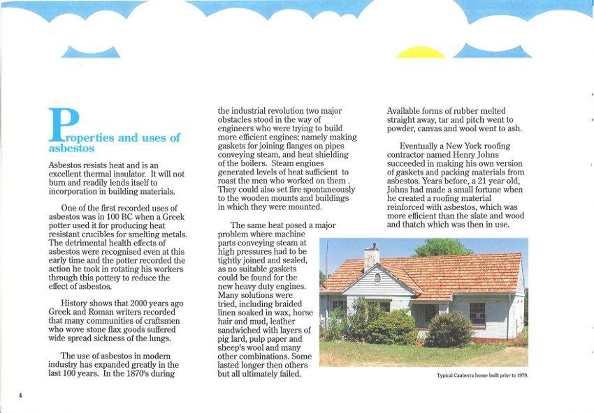Asbestos Insulation in ACT Homes Page 4