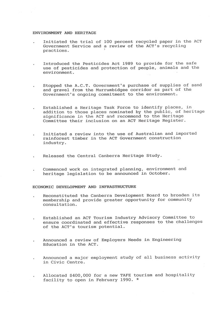 ACT Chief Minister Media Release 18/08/1989 - page 3