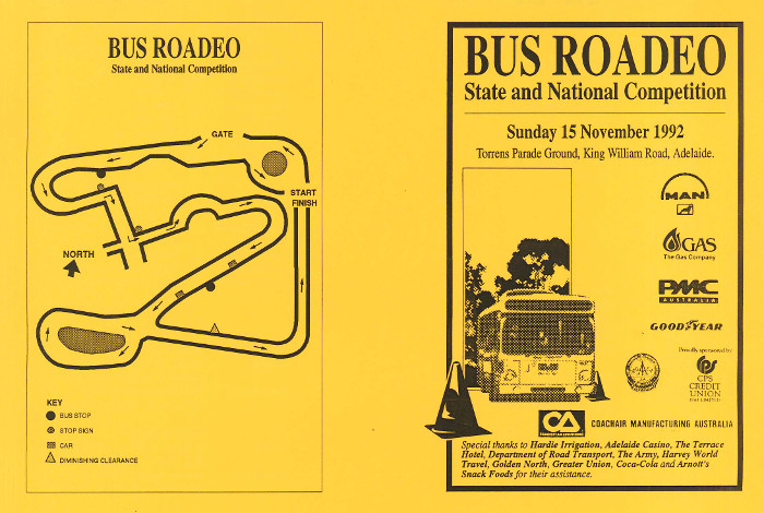 1992 National Bus Roadeo Programme Guide Cover