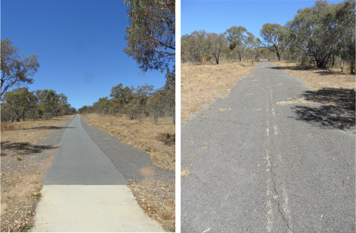 Old Tharwa Road and Pine Island Road in 2014