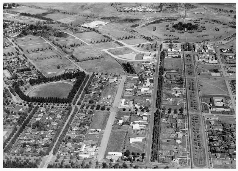 Aerial photo of Braddon in 1953