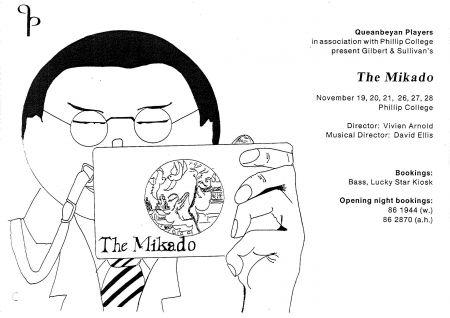 Queanbeyan Players present the Mikado flier
