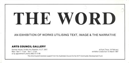 Flier for the Word exhibit