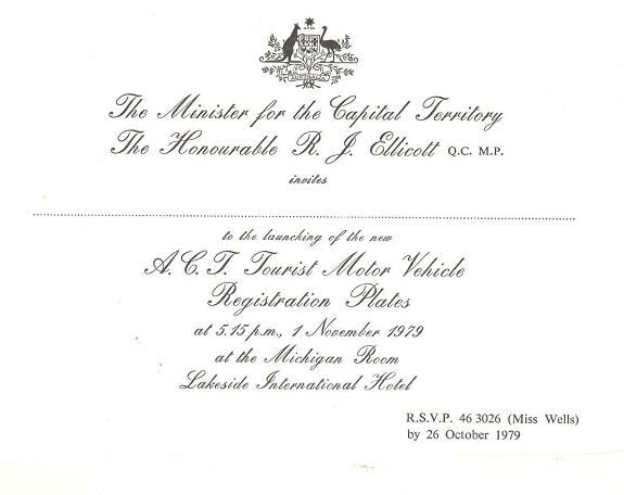 Previous find of the month 12011 ArchivesACT – Launching Invitation Card
