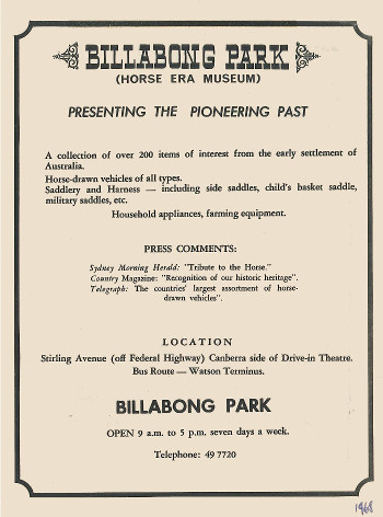 1968 Billabong Park promotional flyer page 1