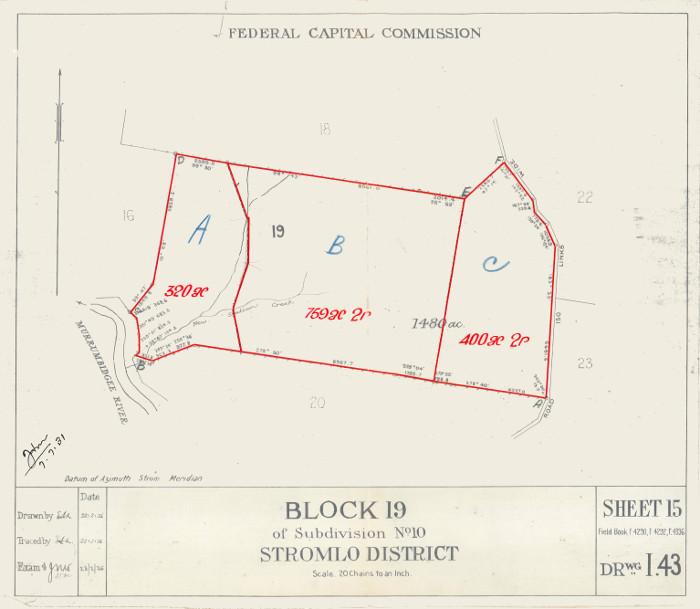 Plan of Stromlo Block 19