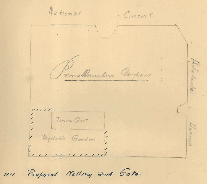 Sketch plan of The Lodge grounds
