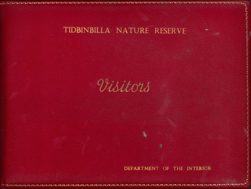 Cover of the Tidbinbilla Visitors Book