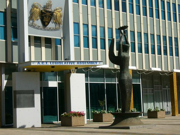 Ethos Outside ACT Legislative Assembly Building