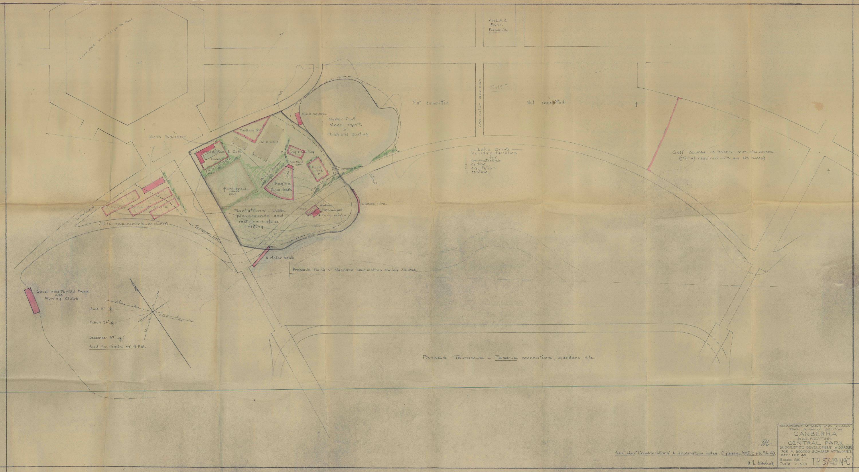 1949 proposal plan for Commonwealth Park TP37/49C