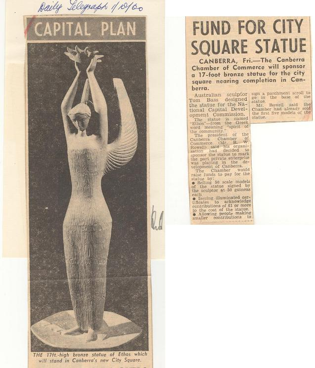 Daily Telegraph 01/10/60 - Article on Ethos