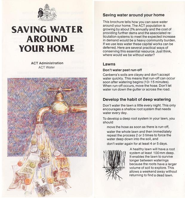 Saving Water Around Your Home - page 1