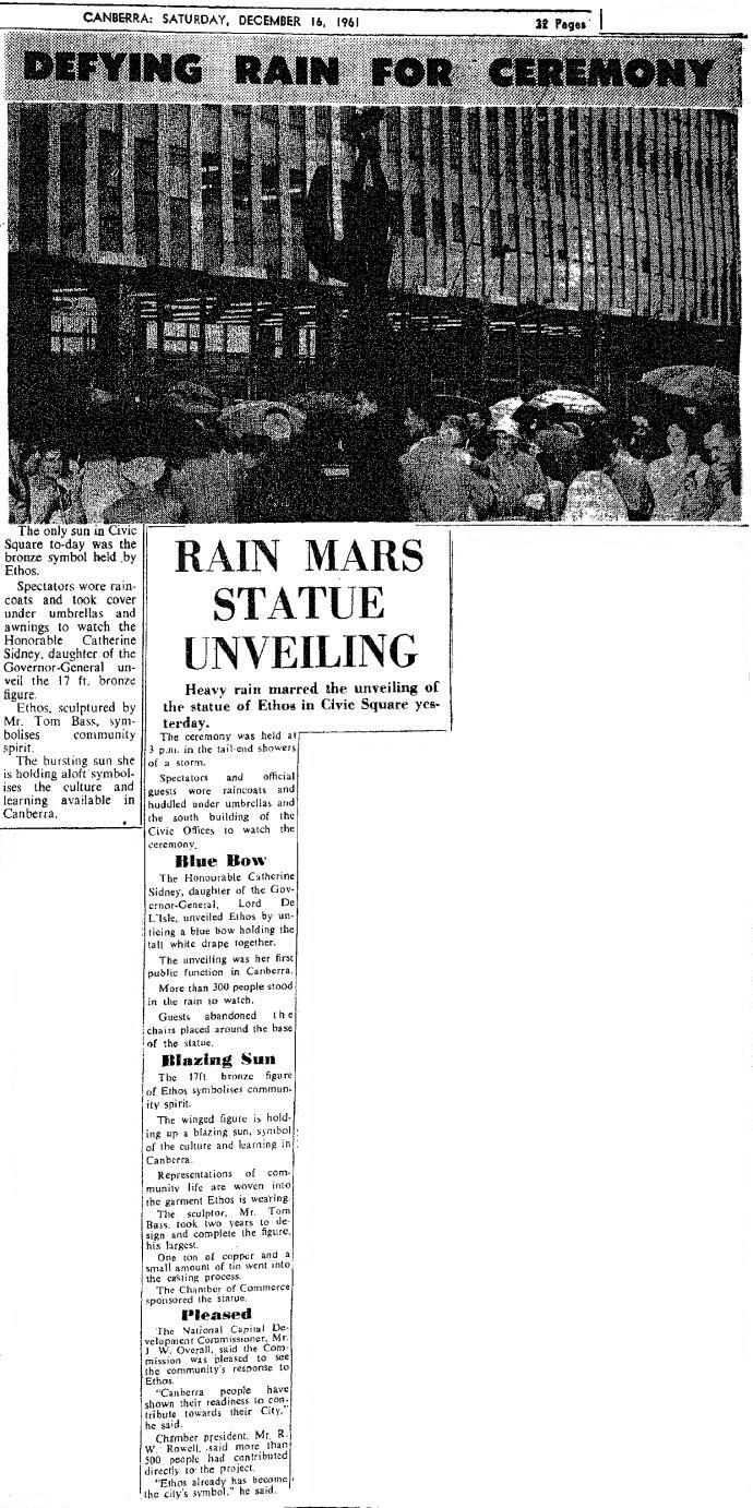 Canberra Times 16/12/1961 - Ethos Article