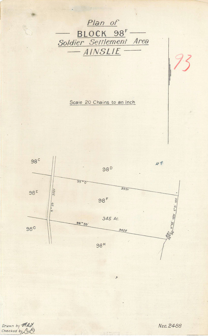 Plan of Gungahlin Block 98F