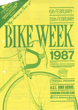 two page brochure on Bike Week 1987