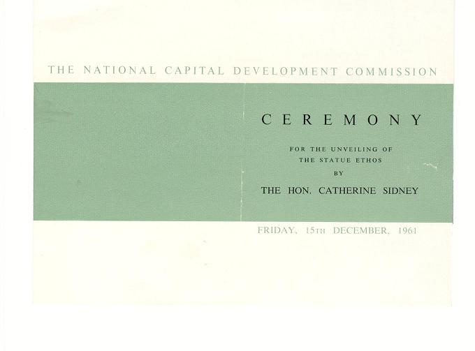 Ethos Unveiling Ceremony Program - Cover