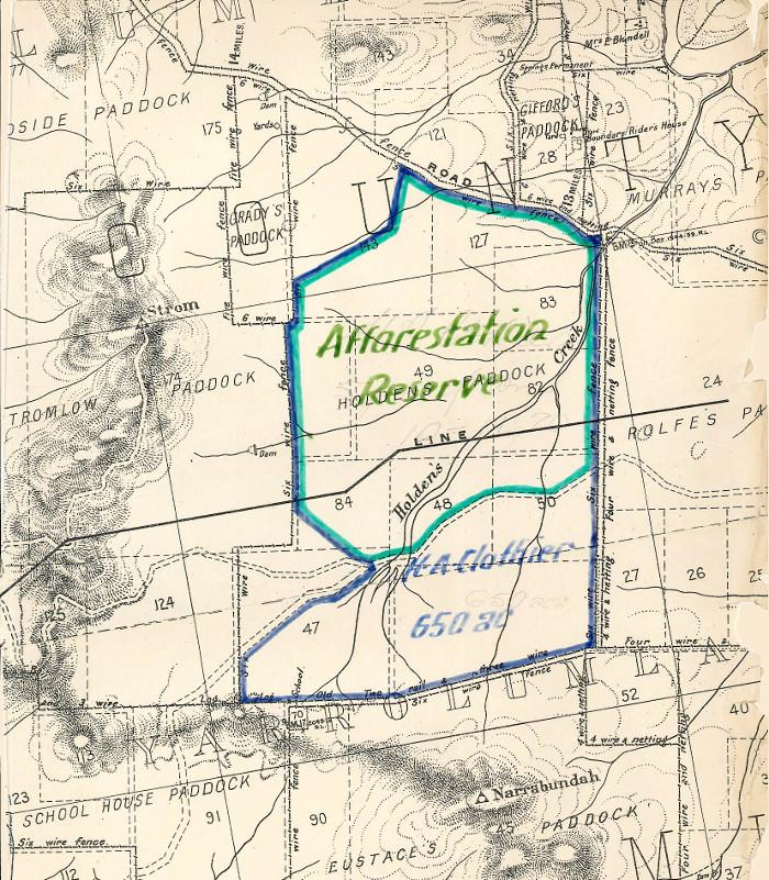Plan of Stromlo Block 43